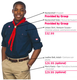 Click here to see where Venturer Scouts' badges are to be placed